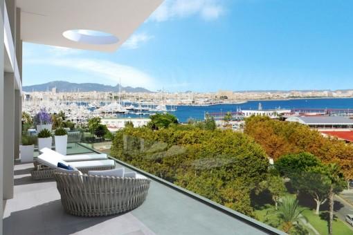 Maravillosas vistas desde la terraza