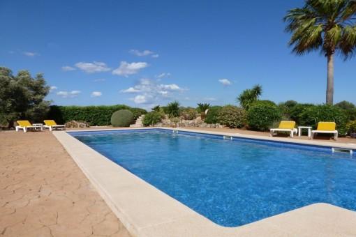 Espaciosa área de piscina