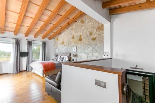 Dormitorio en el piso superior
