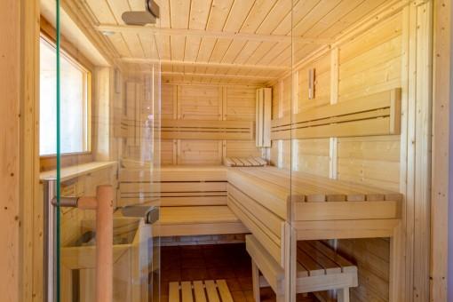 Sauna de la finca