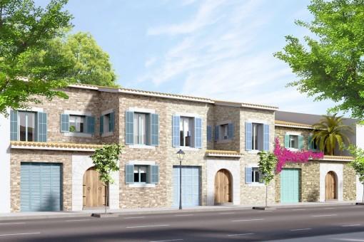 Espaciosa y moderna casa adosada con propia piscina en Ses Salines