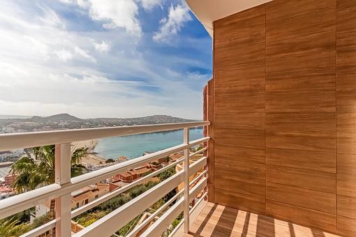 Vistas a la playa desde el balcón