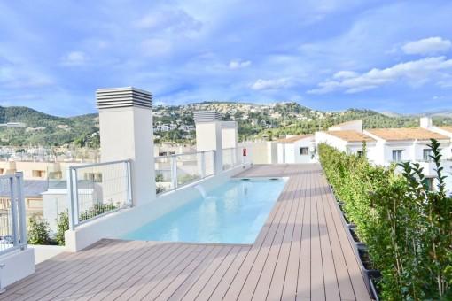 Ático con 2 terrazas privadas y 3 dormitorios en Port d'Andratx