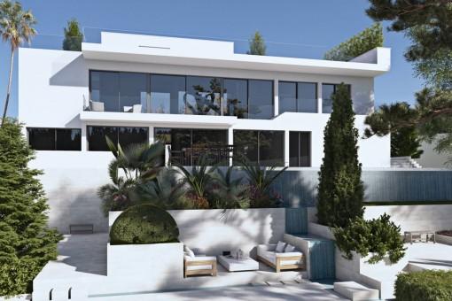 Lujosa villa de nueva construcción en Son Vida con un diseño elegante