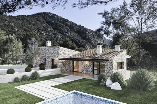 Proyecto de una villa de nueva construcción en Valldemossa