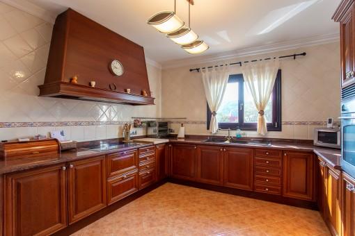 Cocina con amplio espacio