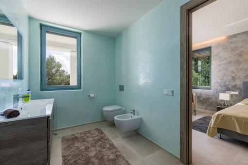 Baño en suite noble
