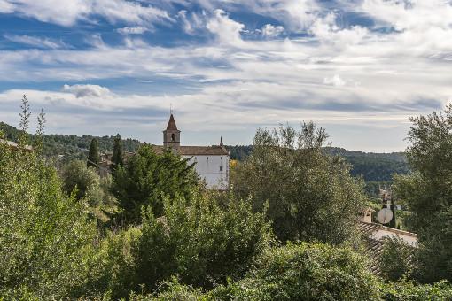Vistas al pueblo de Galilea