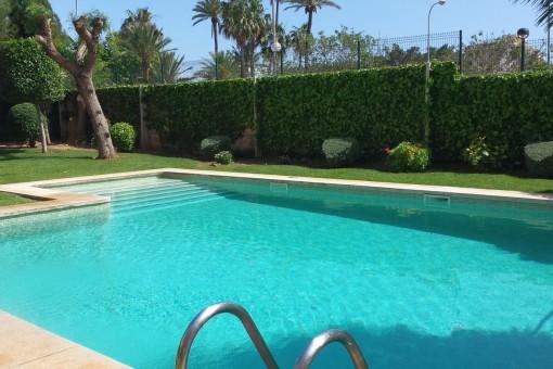 Atractiva zona de la piscina comunitaria