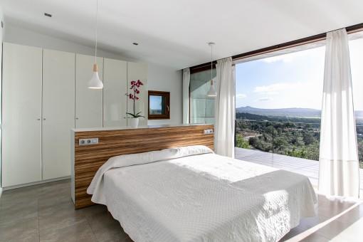 Dormitorio doble con vistas panorámicas