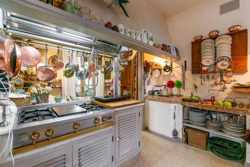 Cocina rústica en estilo tradicional