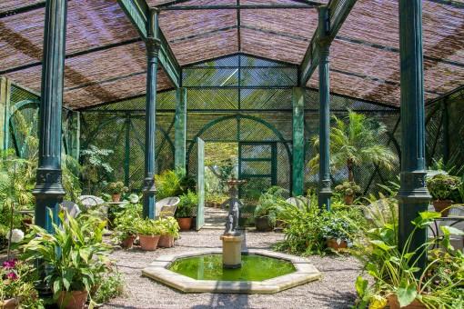 Palm house del jardí