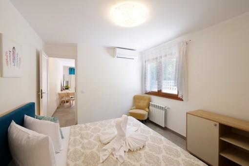El dormitorio del apartamento