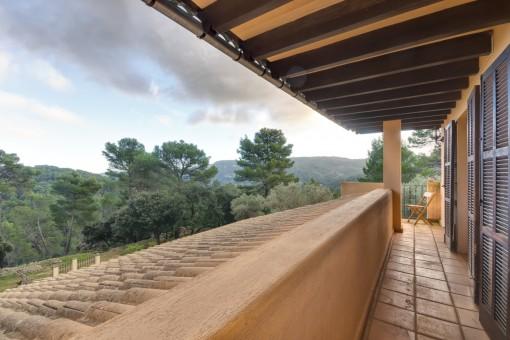 Balcón con vistas a la naturaleza
