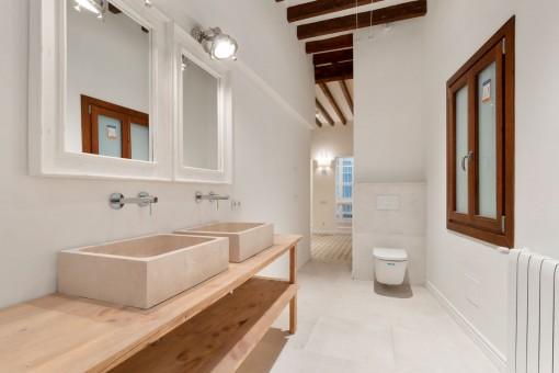 Baño en suite y semi abierto