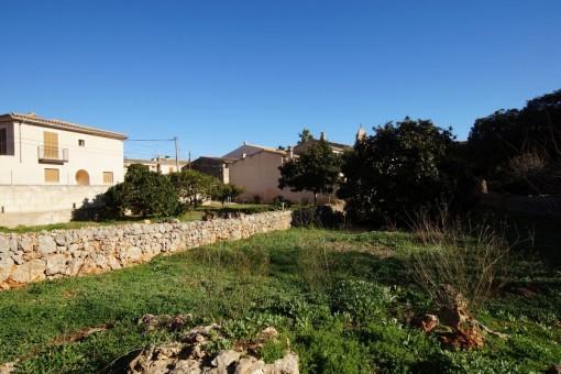 Terreno edificable, soleado y muy grande, en el centro de Pina