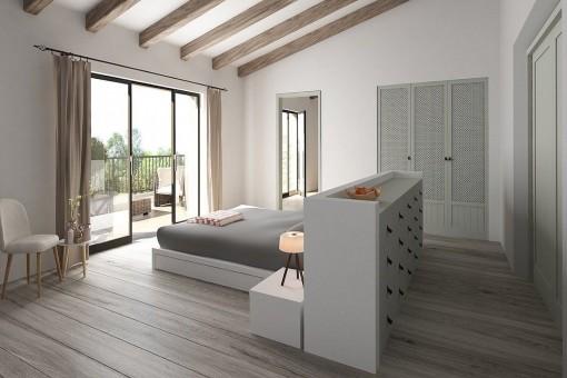 Dormiotrio principal con acceso al balcón