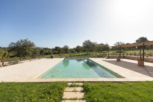 Alternativa vista a la piscina