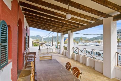Encantador chalet mallorquín con vistas al puerto en Puerto Andratx