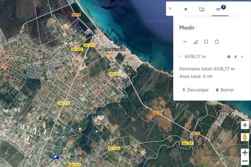 Distancia al mar menos de 7 km