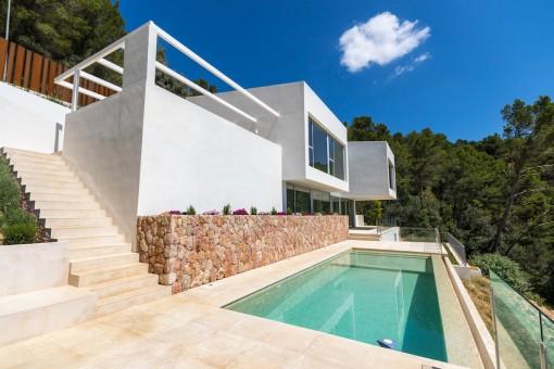 ¡Vanguardista, súper vistas y nueva! - Villa en Bunyola