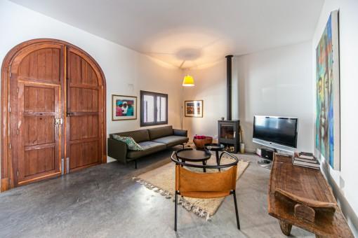 Entrada y sala de estar noble