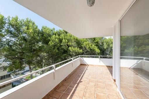 Otra vista del balcón