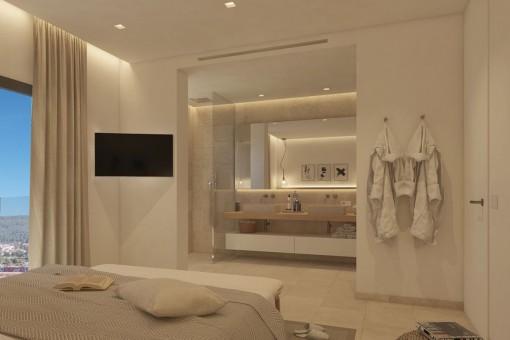 Dormitorio principal con baño en suite