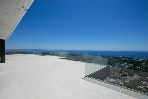 Terraza con fantásticas vistas panorámicas