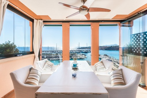Balcón cubierta