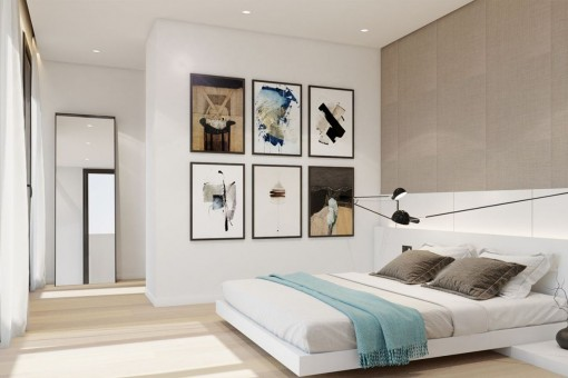 Dormitorio doble acogedor