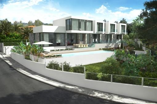Espectacular chalet de nueva construcción con piscina en Cala Vinyas