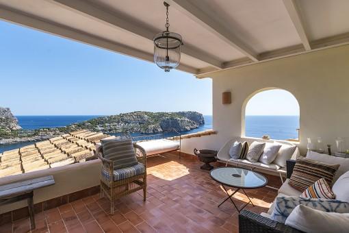 Apartamento con vista maravillosa en Port Andratx