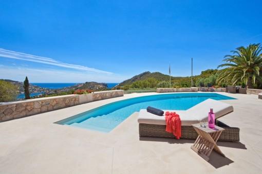 Villa de lujo en Puerto de Andratx con sensacionales vistas al puerto