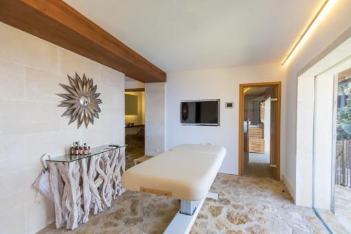 Zona de spa con sauna