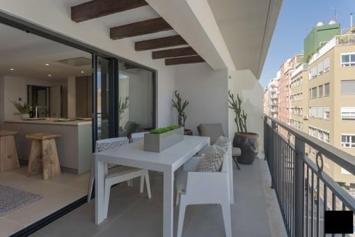Espectacular apartamento en un nuevo edificio con terraza en Palma