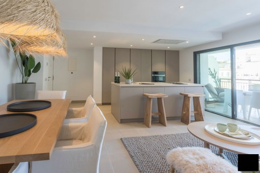 Espectacular apartamento en la 2ª planta de un edificio nuevo con terraza en Palma