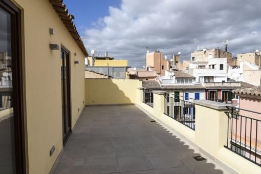 Balcón con una vista