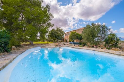 Gran piscina idílica