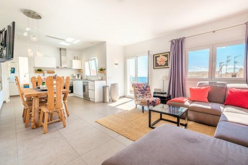 Apartment 1 - Salon abierto y cocina
