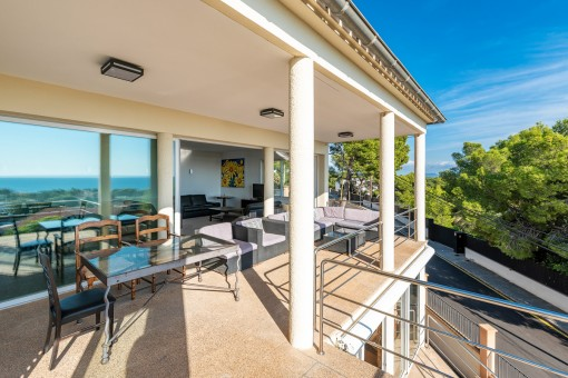 Zona de estar en el balcon