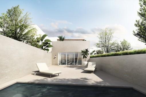 Casa nueva y moderna con piscina en el centro de Santanyí