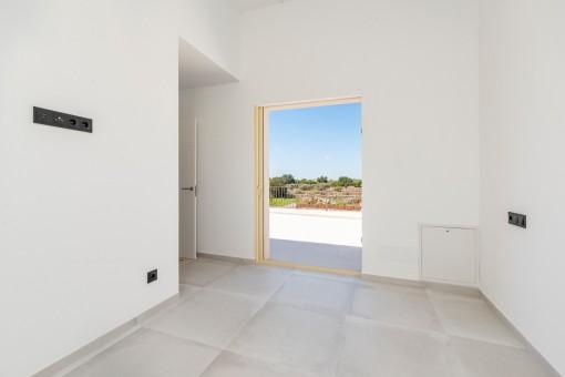 Dormitorio con acceso a la azotea