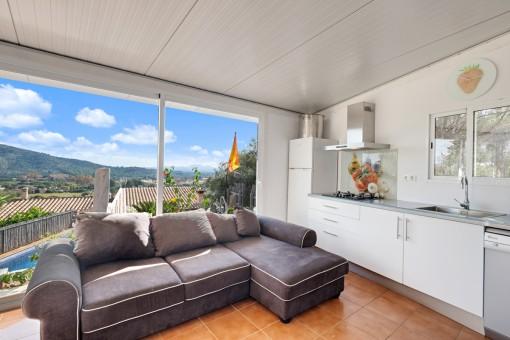 Apartamento para los invitados con ventana panorámica