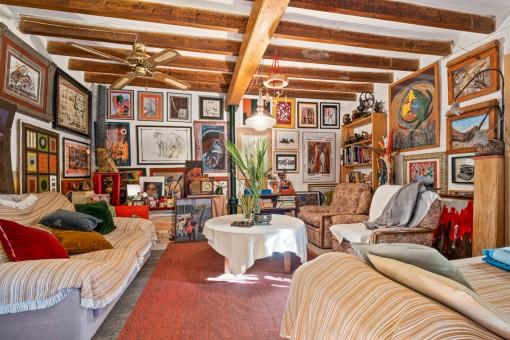 Sala de estar de la casa