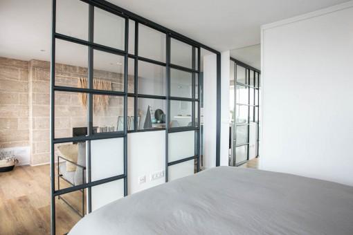 Elegante dormitorio doble