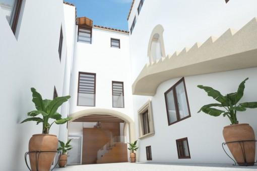 Edificio y entrada