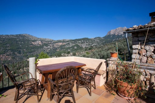 Terraza con maravillosas vistas a la montaña
