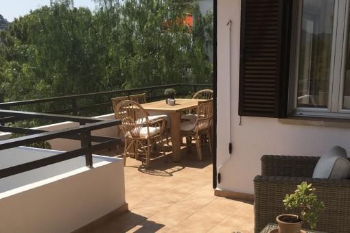 Balcón espacioso