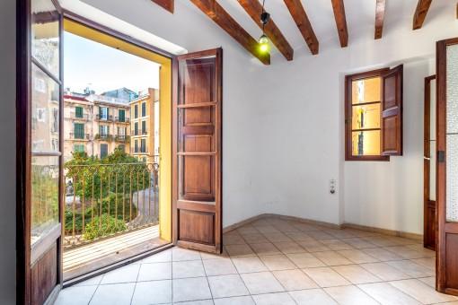 Encantador y soleado apartamento en bonita plaza del Casco Antiguo en Palma